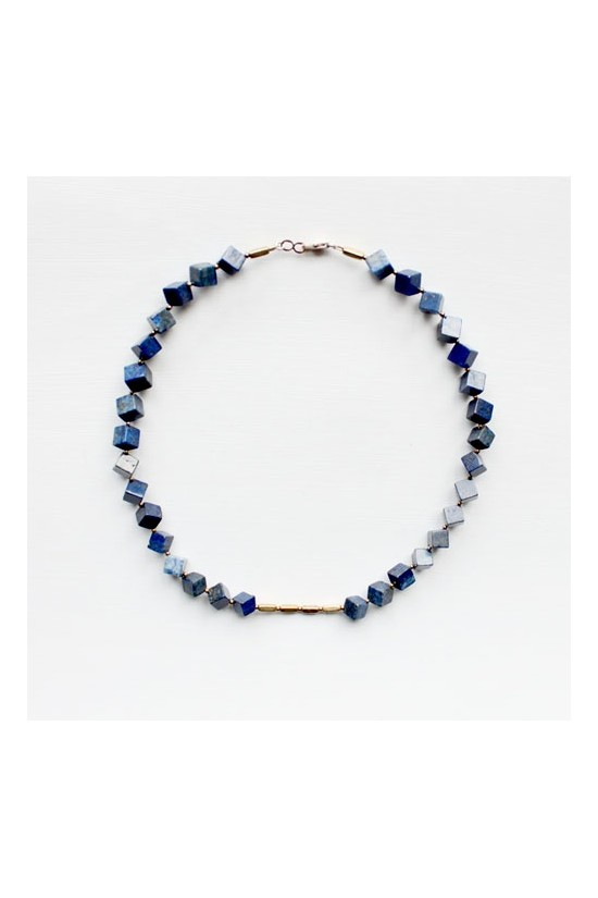 Lapis Lazuli and Brass Necklace