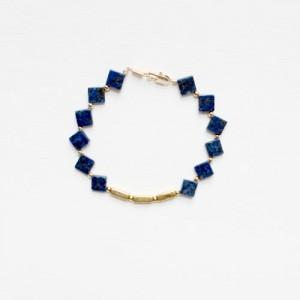 Lapis Lazuli and Brass Bracelet