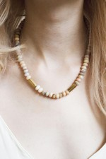 Opal and Brass Necklace