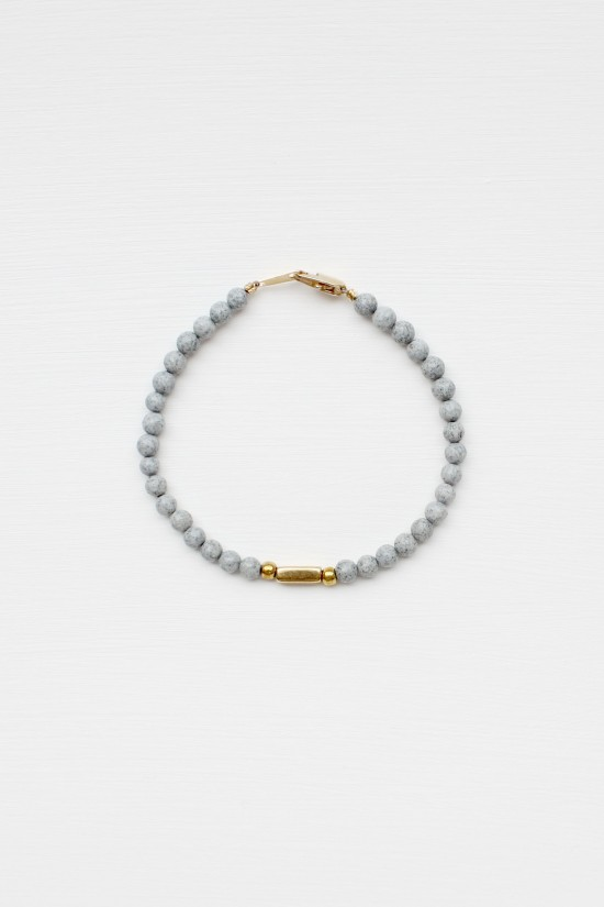 Feldspar and Brass Bracelet