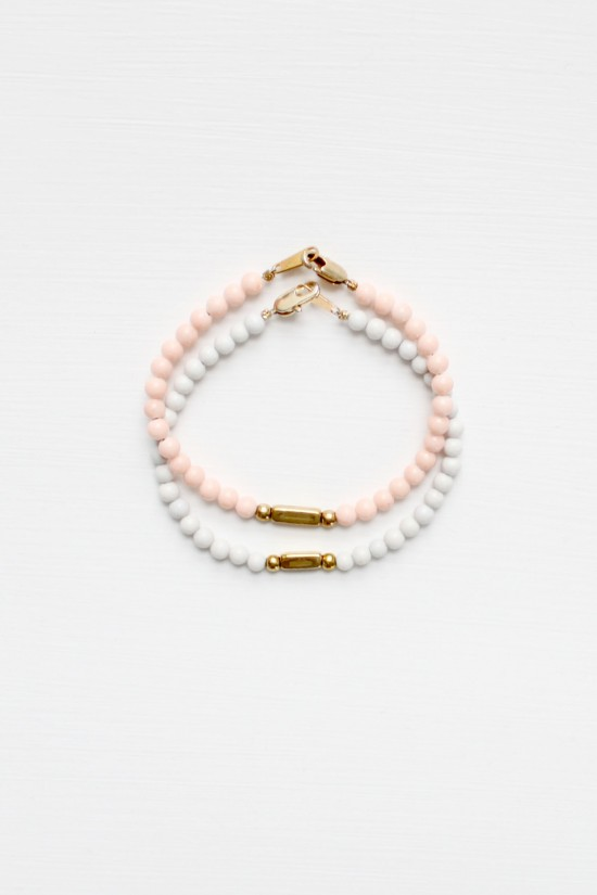 Felspar and Marble Bracelet Set