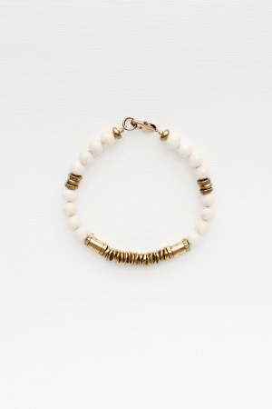 Riverstone and Brass Bracelet