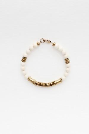 Riverstone and Brass Bracelet
