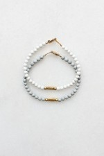 Feldspar and Brass Bracelet Set