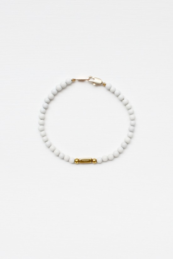 Feldspar and Brass Bracelet Set
