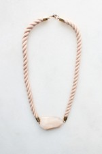 Pink Opal and Rope Necklace