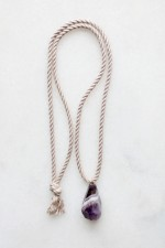 Amethyst and Rope Pendant