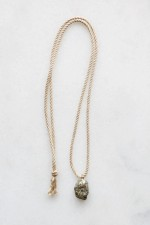 Rope and Pyrite Necklace