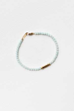 Amazonite and Brass Bracelet