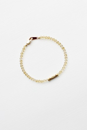 Citrine and Brass Bracelet