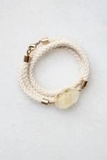 Citrine and Rope Wrap Bracelet