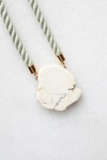 Natural Magnesite and Rope Necklace