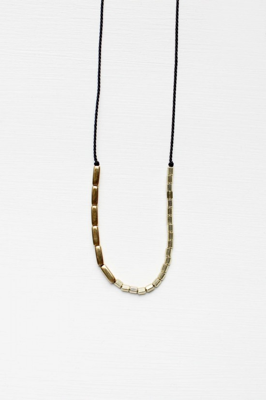Silk and Brass Necklace