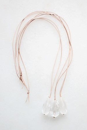 Quartz and Leather Necklace