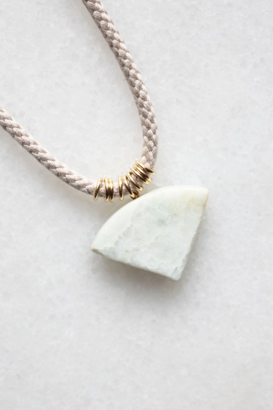 Braided Cord and Marble Necklace