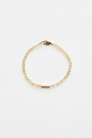 Citrine Bracelet Set - 14kt gold fill