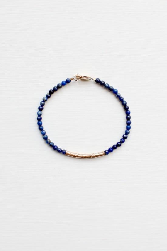 Lapis Lazuli Bracelet - 14kt gold fill