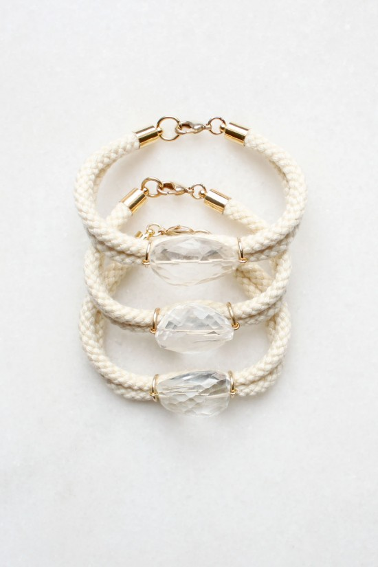 Rope and Quartz Bracelet