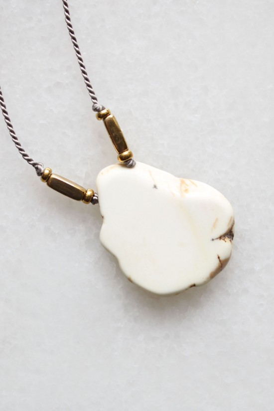 Magnesite and Silk Necklace