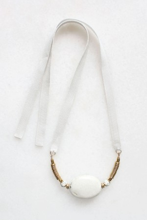 Marble and Brass Necklace