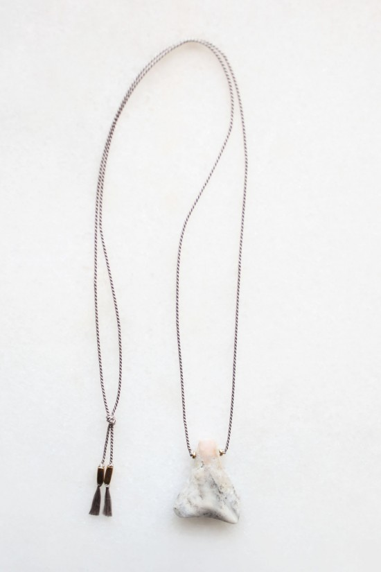 Silk and Opal Necklace