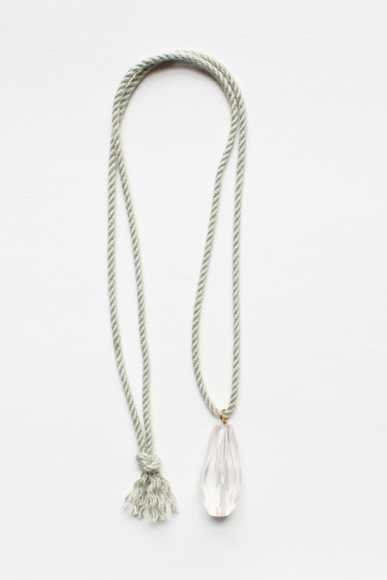 Quartz and Rope Necklace