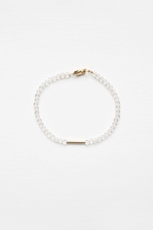 Crystal Quartz Bracelet - 14kt gold fill
