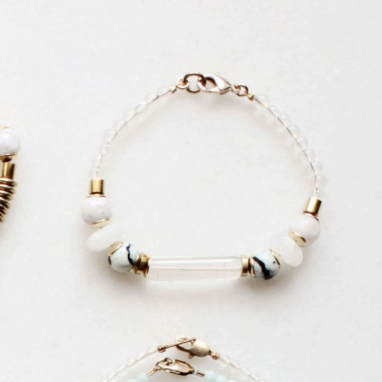 Quartz and Moonstone Bracelet