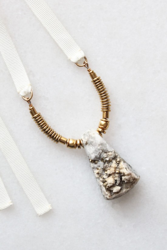 Pyrite and Quartz Necklace