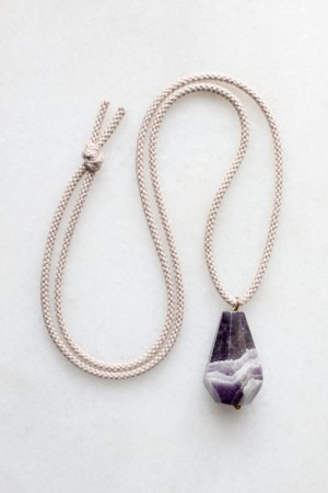 Amethyst and Rope Necklace