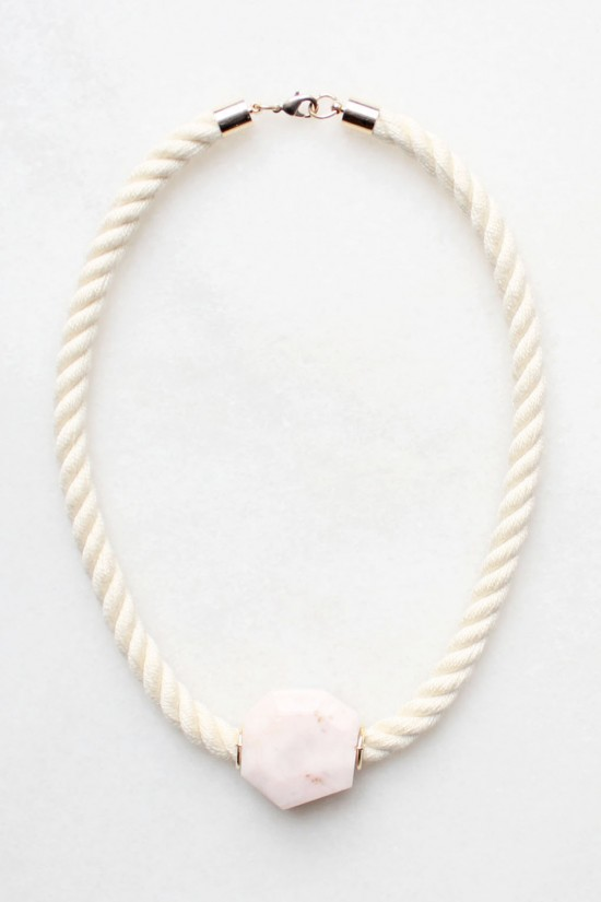 Peruvian Opal and Rope Necklace