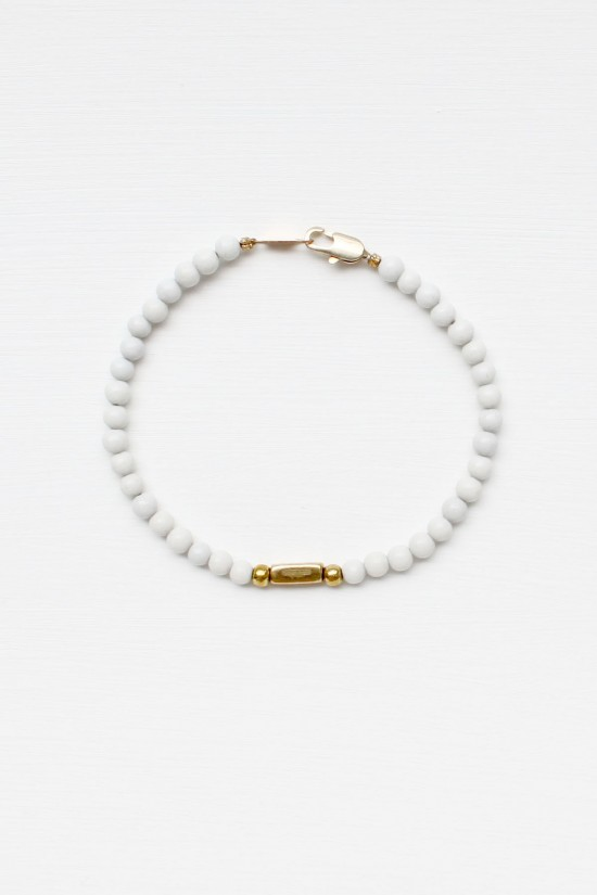Feldspar and Marble Bracelet Set