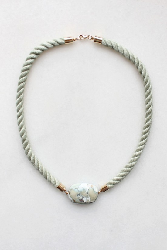 Marble and Rope Necklace