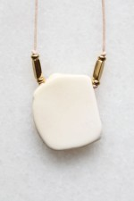 Magnesite and Cotton Necklace