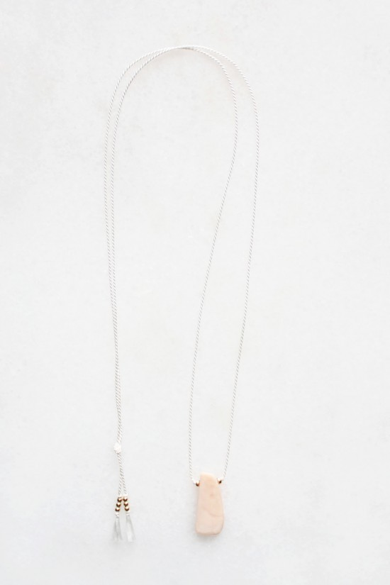 Silk and Opal Necklace - 14kt gold fill