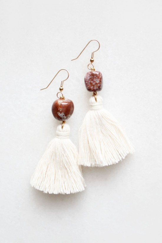 Ocean Jasper Tassel Earrings