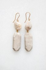 Feldspar and Moonstone Earrings