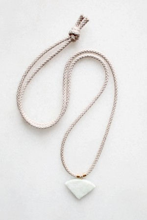 Braided Cord and Marble Necklace - 14kt gold fill
