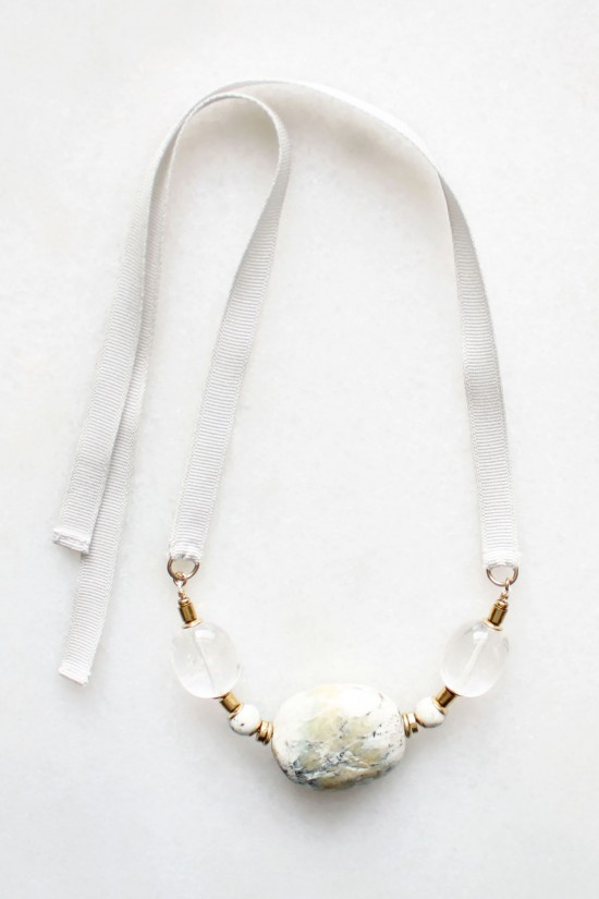 Marble and Quartz Necklace