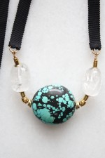 Turquoise and Quartz Necklace
