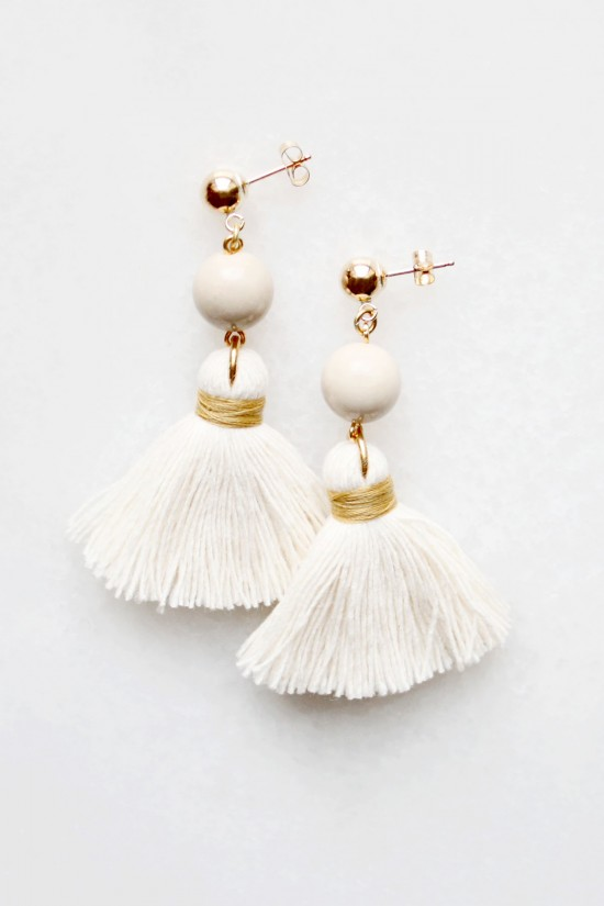 Riverstone Tassel Earrings