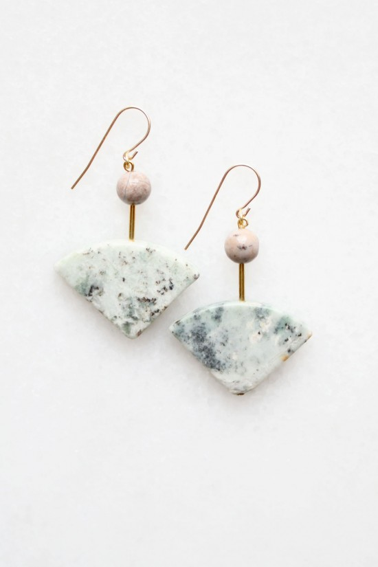 Marble and Agate Earrings