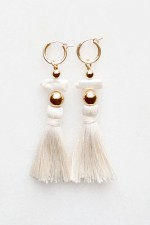Pearl and Silk Tassel Earrings