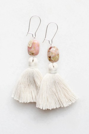 Peruvian Opal Tassel Earrings