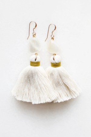 Moonstone Tassel Earrings