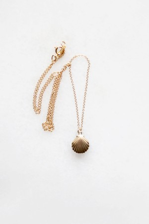 Shell Charm Necklace - 14kt gold fill