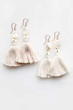 Mother of Pearl Tassel Earrings