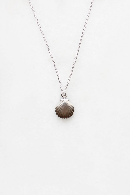 Shell Charm Necklace - sterling silver