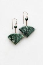 Marble and Seraphinite Earrings