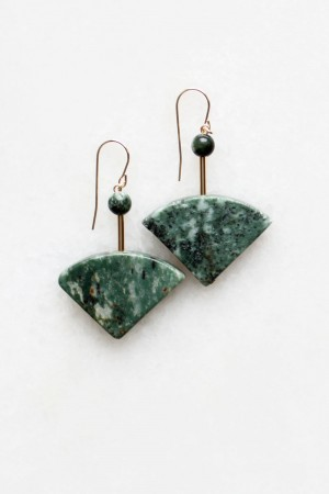 Marble and Seraphinite Earrings